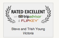 Flip Key Rated Excellent Certificate for Victoria Vacation Rental